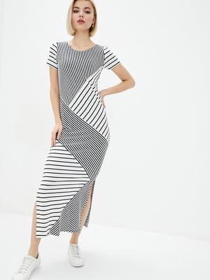 Платье черно-белое в полоску | 5729702