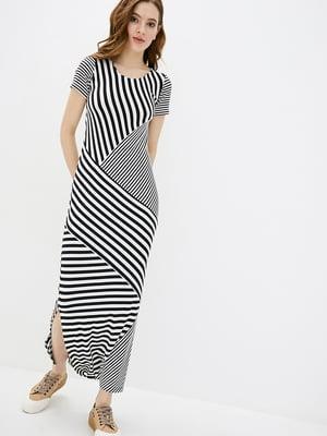 Платье черно-белое в полоску | 5729704
