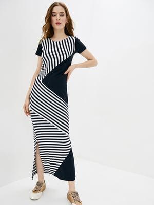 Платье черно-белое в полоску | 5729703