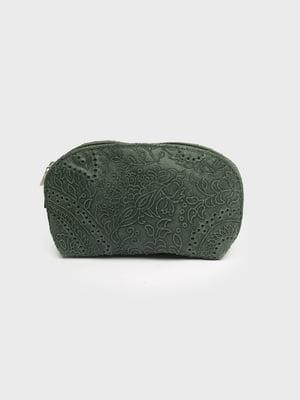 Косметичка темно-зелена | 5725802