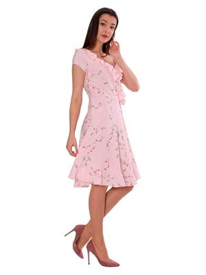 Платье розового цвета в цветочный принт | 5730387