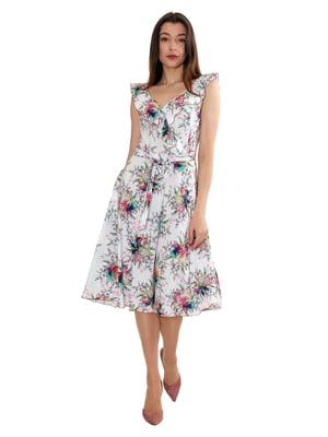 Сукня біла з принтом | 5419521