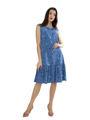 Сукня блакитного кольору в горох | 5474930