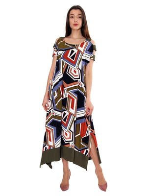 Платье в абстрактную расцветку   5491234