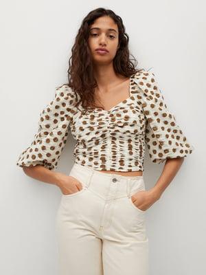 Блуза белая в горошек | 5730423