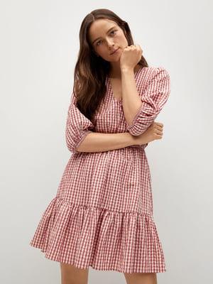 Сукня біло-рожева в клітинку | 5730425