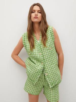Блуза зеленая в клетку | 5730438