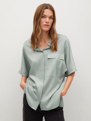 Рубашка светло-зеленая | 5730452