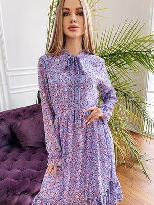 Платье лавандового цвета в цветочный принт | 5730550