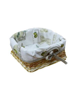 Хлебница плетеная с чехлом (20х20 см) | 5729422