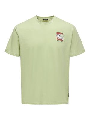 Футболка зелена | 5730641