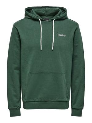 Худі зелена з принтом | 5730657