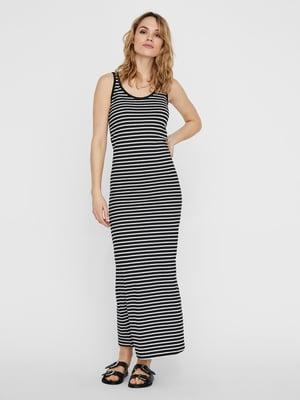 Сукня чорно-біла у смужку | 5730874