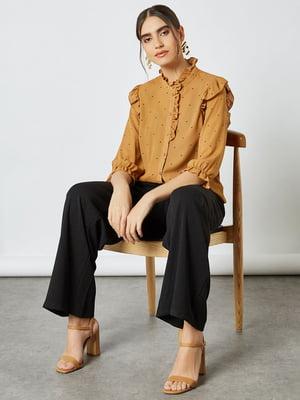 Блуза светло-коричневая в горошек | 5618403
