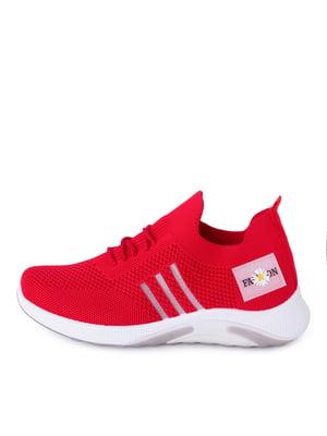 Кросівки червоного кольору з логотипом | 5730814