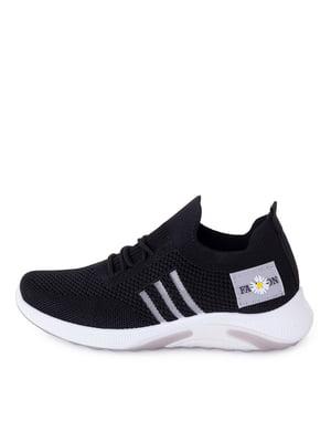 Кросівки чорні з логотипом | 5730817