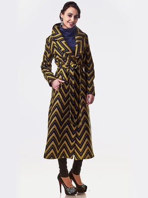 Пальто комбинированной расцветки | 5718140