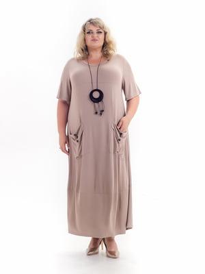Платье бежевое | 5731400