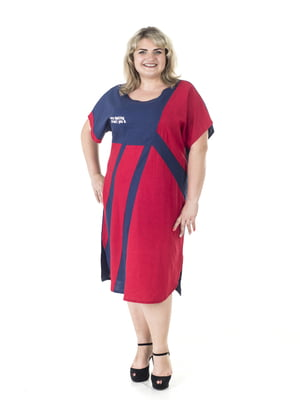 Платье сине-красное | 5731405