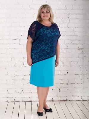Платье сине-голубое | 5731459