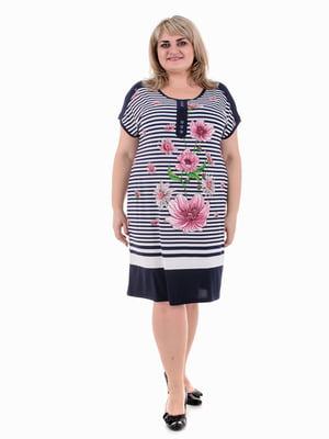 Платье в полоску и цветочный принт | 5731504