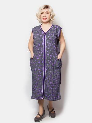 Халат фиолетовый в принт | 5731659