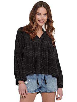 Блуза черная с узором   5687610