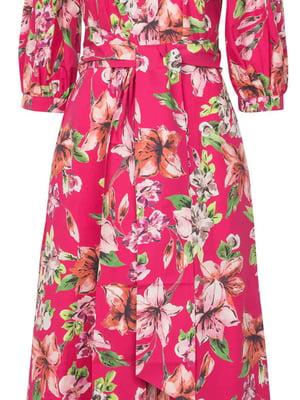 Сукня рожевого кольору в квітковий принт | 5731211