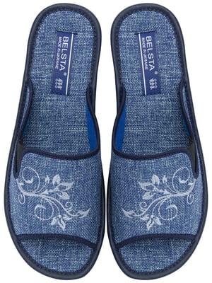 Тапочки синие с вышивкой   5731992