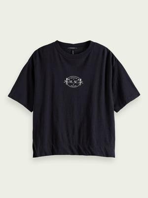 Футболка черная с принтом | 5687529