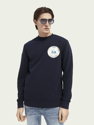 Свитшот синий с логотипом | 5731096