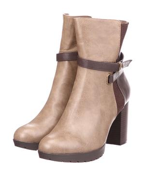 Ботинки бежево-бордовые | 5733558