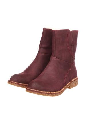 Ботинки бордовые | 5733578
