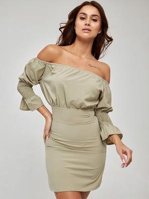 Сукня оливкового кольору | 5733669