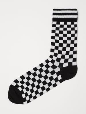 Носки в шахматный рисунок   5733978