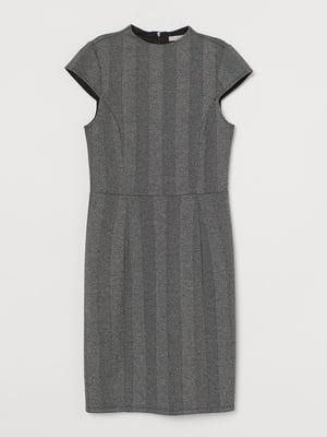 Платье серое в полоску | 5734092