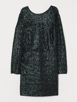 Платье черно-зеленое | 5734154