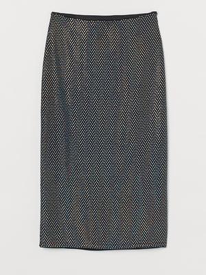 Юбка черная с блестками | 5734217