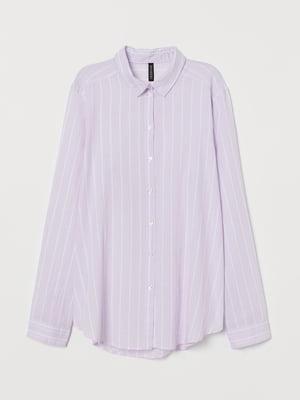 Рубашка сиреневая в полоску   5734341
