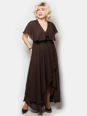 Платье темно-коричневое   5734772
