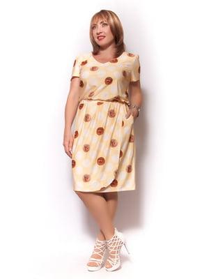 Платье желтое в принт   5734782