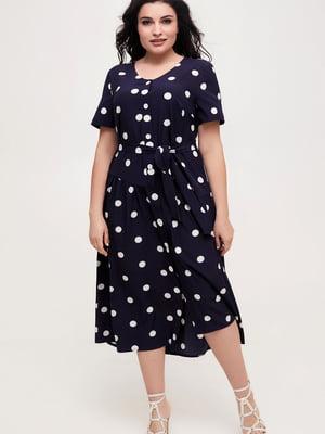 Сукня темно-синя у горох   5734796