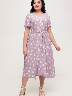 Сукня бузкового кольору у горох   5734797