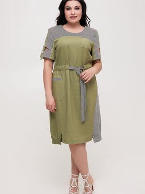 Сукня оливкового кольору | 5734807