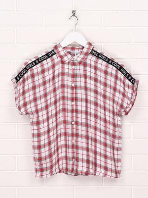 Рубашка красного цвета в клетку | 5707361