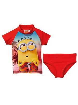 Костюм купальный: футболка и трусы | 5717564