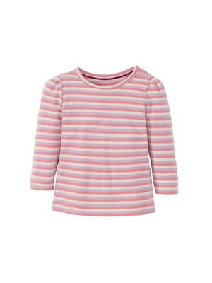Лонгслів рожевого кольору в смужку | 5717576