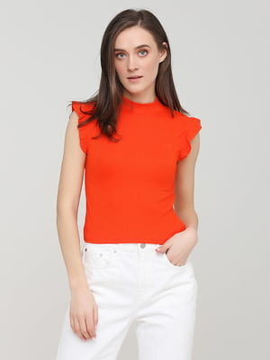 Футболка морквяного кольору | 5729764
