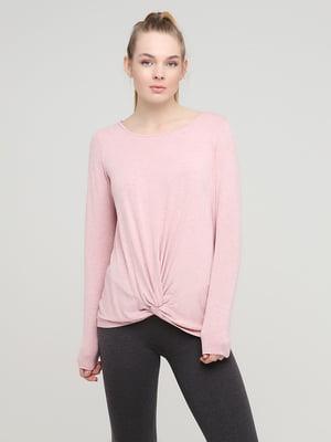 Лонгслів спортивний рожевого кольору | 5729822