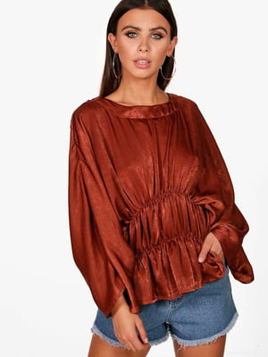 Блуза коричневого цвета | 5729886